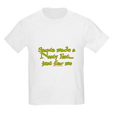 Santa Made a Nasty List Kids T-Shirt