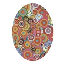 Multicolored rings Oval Ornament
