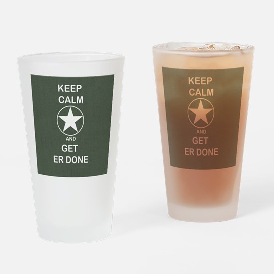Keep Calm and Get ER Done Drinking Glass