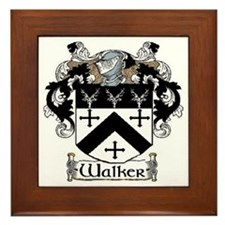 Walker Coat of Arms Framed Tile