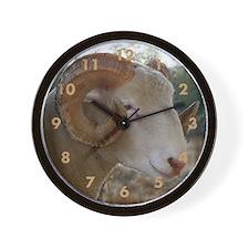 Horned Ram Headstudy Wall Clock