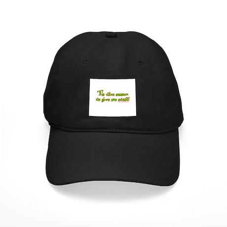 Tis The Season To Give Me Stu Black Cap