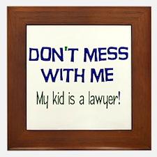 My Kid's a Lawyer Framed Tile