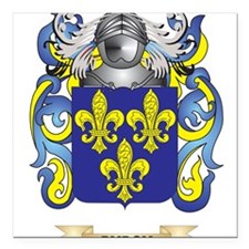 """Burch Coat of Arms Square Car Magnet 3"""" x 3"""""""