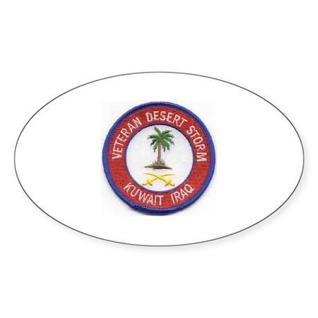 Desert Storm/Kuwait/Iraq.. Oval Sticker