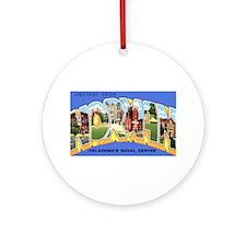 Norman Oklahoma Greetings Ornament (Round)
