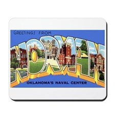 Norman Oklahoma Greetings Mousepad