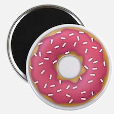 pink frosted sprinkles donut doughnut Magnet