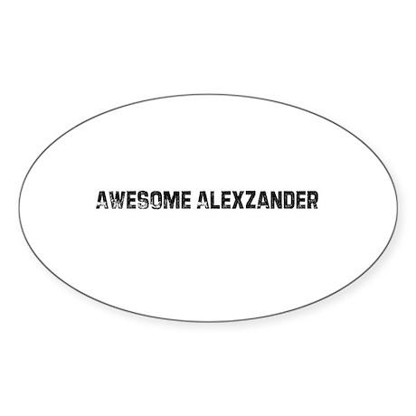 Awesome Alexzander Oval Sticker