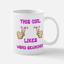 This Girl Likes Word Searches Mug