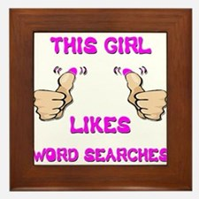 This Girl Likes Word Searches Framed Tile
