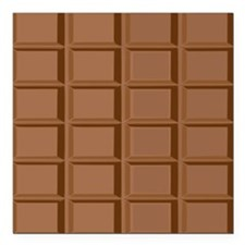 "Fun Chocolate graphic Square Car Magnet 3"" x 3"""