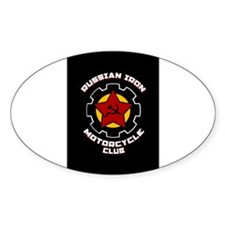 Iron Gear Oval Decal
