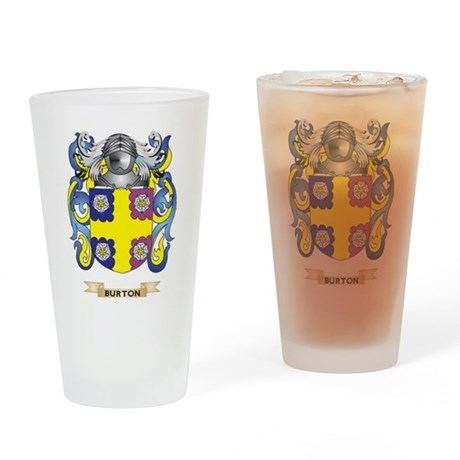 Burton Coat of Arms Drinking Glass