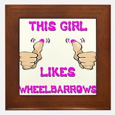 This Girl Likes Wheelbarrows Framed Tile