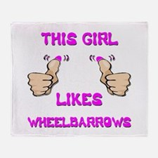 This Girl Likes Wheelbarrows Throw Blanket