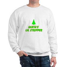 Santa's Lil Stripper Sweatshirt