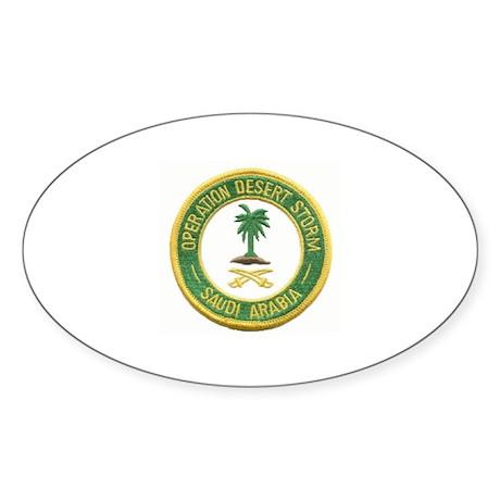 Desert Storm/Saudi Arabia.. Oval Sticker
