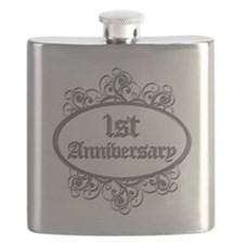 1st Wedding Aniversary (Engraved) Flask
