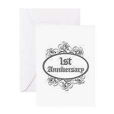 1st Wedding Aniversary (Engraved) Greeting Card
