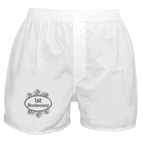 1st Wedding Aniversary (Engraved) Boxer Shorts