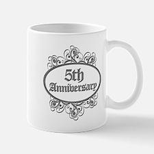 5th Wedding Aniversary (Engraved) Mug