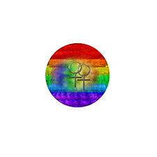 Gay Pride Lesbian Art Mini Button