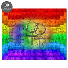 Gay Pride Lesbian Art Puzzle