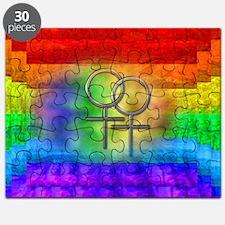 Gay Pride Lesbian Art Puzzle