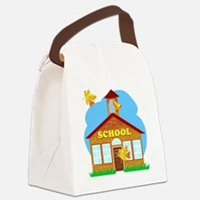 classic schoolhouse graphic Canvas Lunch Bag