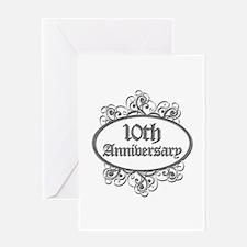 10th Wedding Aniversary (Engraved) Greeting Card