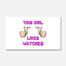 This Girl Likes Watches Car Magnet 20 x 12