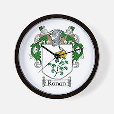 Ronan Coat of Arms Wall Clock