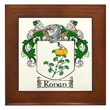 Ronan Coat of Arms Framed Tile