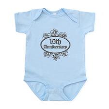 15th Wedding Aniversary (Engraved) Infant Bodysuit
