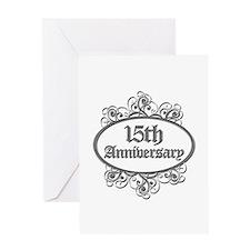 15th Wedding Aniversary (Engraved) Greeting Card