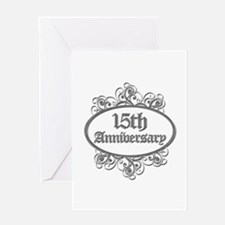 15th Wedding Aniversary (Engraved) Greeting Card