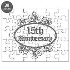 15th Wedding Aniversary (Engraved) Puzzle
