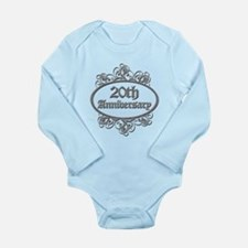 20th Wedding Aniversary (Engraved) Long Sleeve Inf