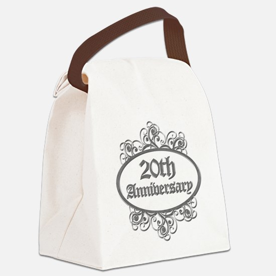 20th Wedding Aniversary (Engraved) Canvas Lunch Ba