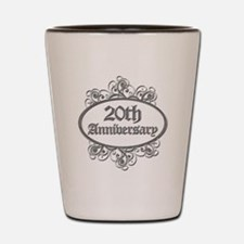20th Wedding Aniversary (Engraved) Shot Glass