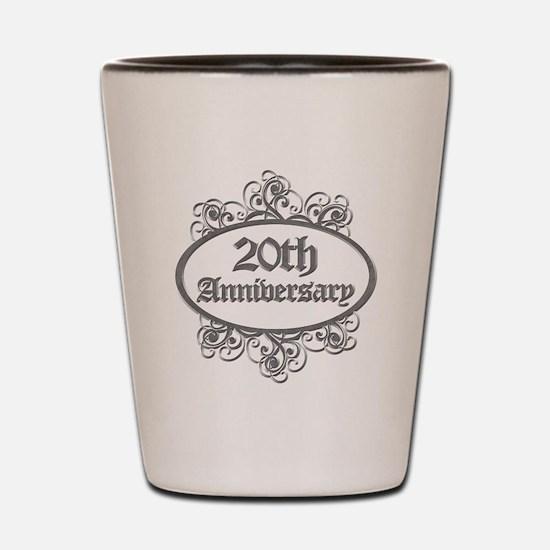 20th Wedding Aniversary (Engraved) Shot Glass