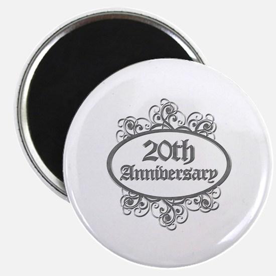 20th Wedding Aniversary (Engraved) Magnet