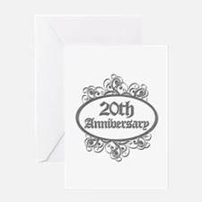20th Wedding Aniversary (Engraved) Greeting Card