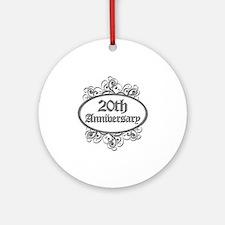 20th Wedding Aniversary (Engraved) Ornament (Round