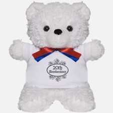 20th Wedding Aniversary (Engraved) Teddy Bear