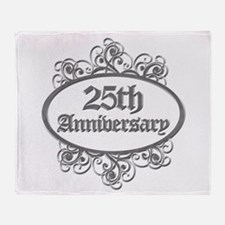 25th Wedding Aniversary (Engraved) Throw Blanket