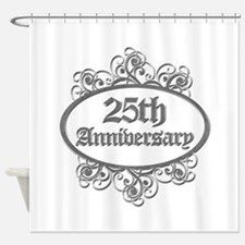 25th Wedding Aniversary (Engraved) Shower Curtain