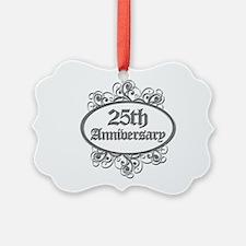 25th Wedding Aniversary (Engraved) Ornament
