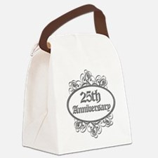 25th Wedding Aniversary (Engraved) Canvas Lunch Ba